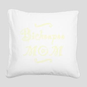 bichonpoomom_black Square Canvas Pillow