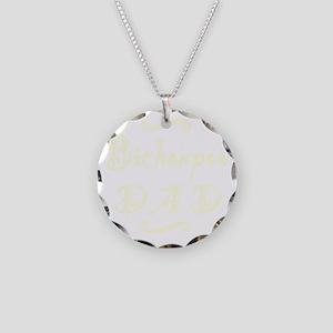 bichonpoodad_black Necklace Circle Charm