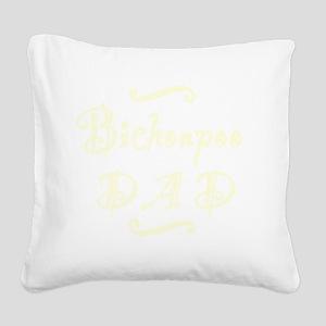 bichonpoodad_black Square Canvas Pillow