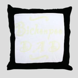 bichonpoodad_black Throw Pillow