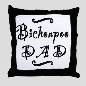 bichonpoodad Throw Pillow