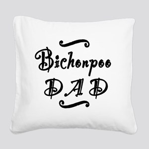 bichonpoodad Square Canvas Pillow