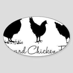 backyardchickenfarmer Sticker (Oval)