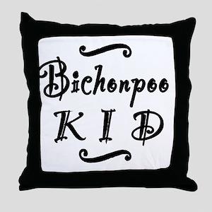 bichonpookid Throw Pillow
