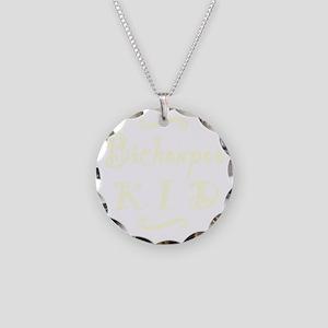 bichonpookid_black Necklace Circle Charm