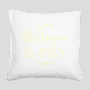 bichonpoobaby_black Square Canvas Pillow