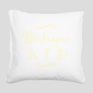 bichonpookid_black Square Canvas Pillow