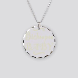bichonpoobaby_black Necklace Circle Charm