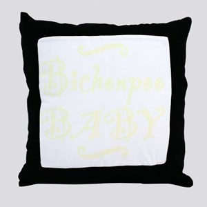 bichonpoobaby_black Throw Pillow
