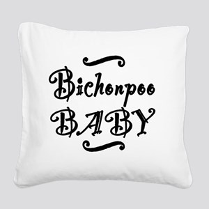 bichonpoobaby Square Canvas Pillow