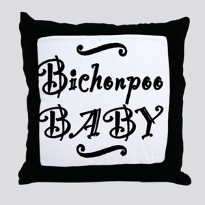 bichonpoobaby Throw Pillow