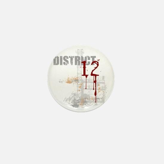 district 12 grunge Mini Button