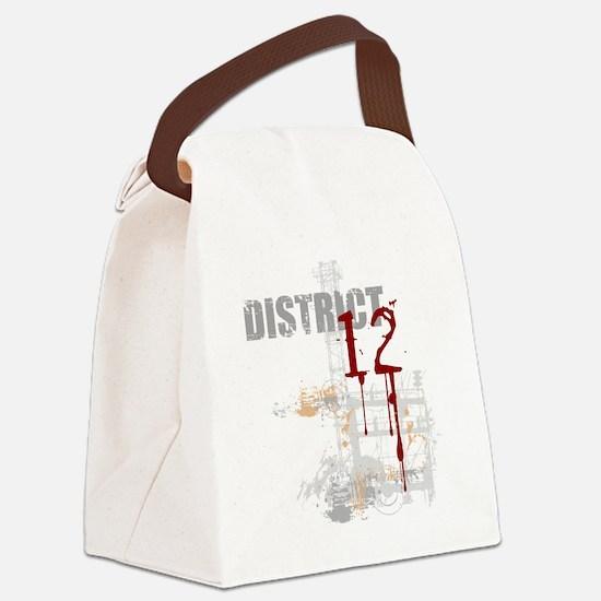 district 12 grunge Canvas Lunch Bag