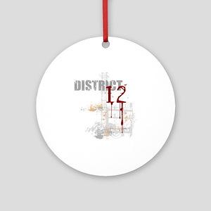 district 12 grunge Round Ornament