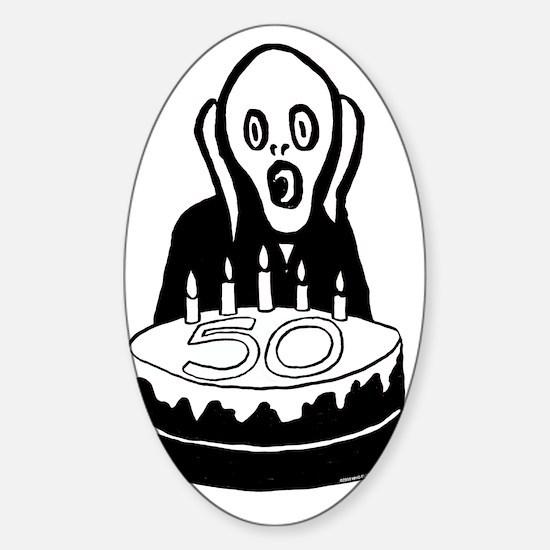 Scream50 Sticker (Oval)