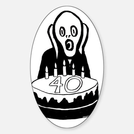 Scream40 Sticker (Oval)