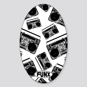 BoomboxKINDLE Sticker (Oval)