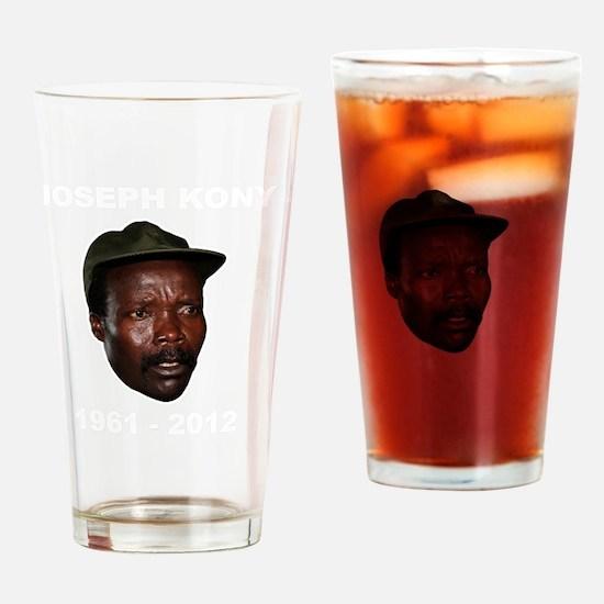 Kony 2012 Obituary Drinking Glass