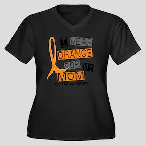 D MOM Women's Plus Size Dark V-Neck T-Shirt