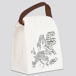Food Map of Europe Canvas Lunch Bag