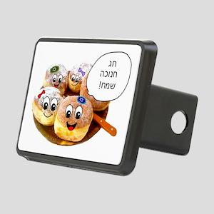 Chanukah Sameach Donuts Rectangular Hitch Cover