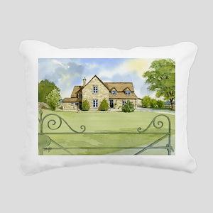 Woburn-Cottage Rectangular Canvas Pillow