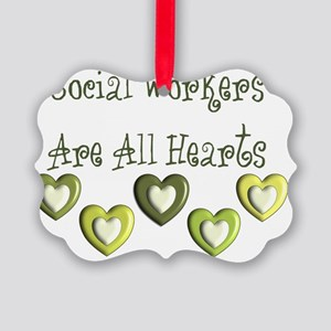 Social Workers Are all hearts Picture Ornament