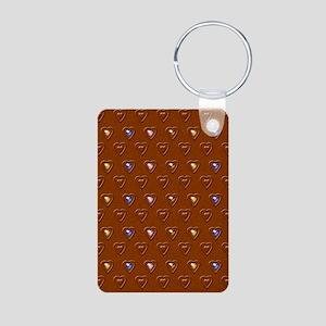 jewelled hearts chocolate Aluminum Photo Keychain