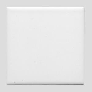 schipperke white Tile Coaster