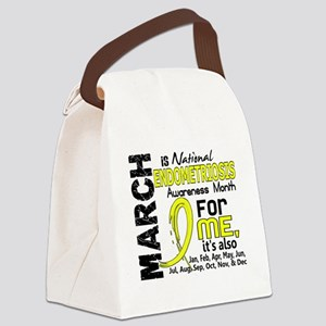 D Endo Awareness Month For Me Canvas Lunch Bag