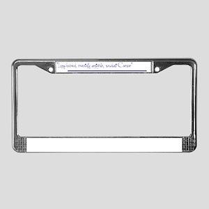Long hair License Plate Frame