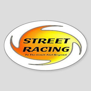 Street Racing Oval Sticker