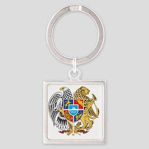 armenia_coa_n16 Square Keychain
