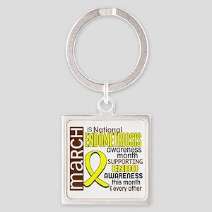 D Endometriosis Awareness Month I2 Square Keychain