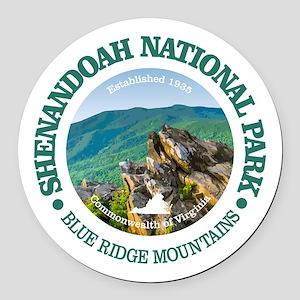 Shenandoah National Park Round Car Magnet