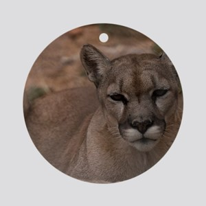 (12) Mountain Lion 1 Round Ornament