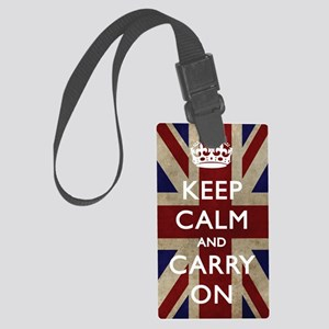 large_KEEP_CALM_UNION_JACK Large Luggage Tag