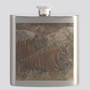 (4) Tigers Two Walking Flask