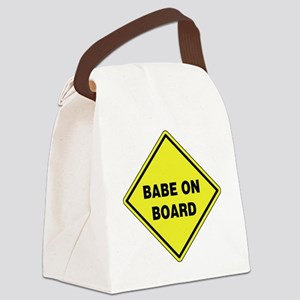 Babe On Board Canvas Lunch Bag