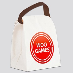 Woo Games Red Canvas Lunch Bag