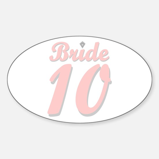 Bride '10 Oval Decal