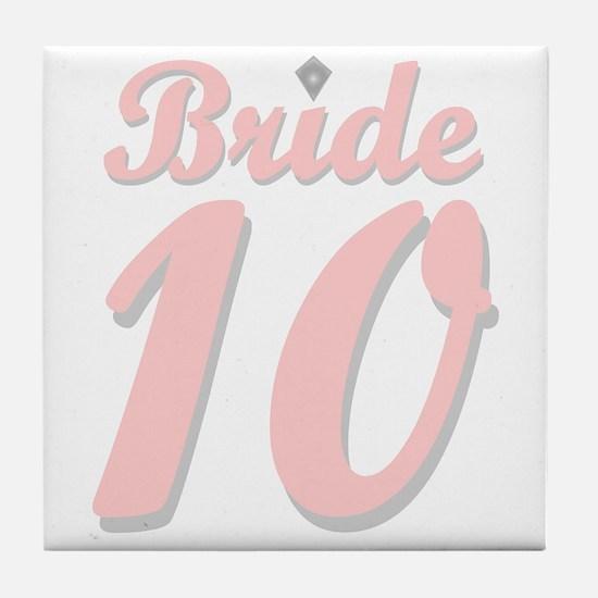 Bride '10 Tile Coaster