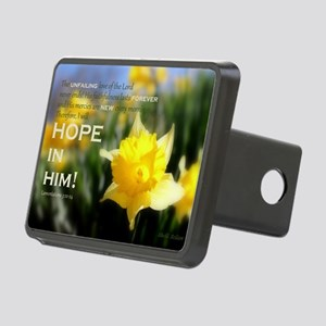 Hope In Him Rectangular Hitch Cover