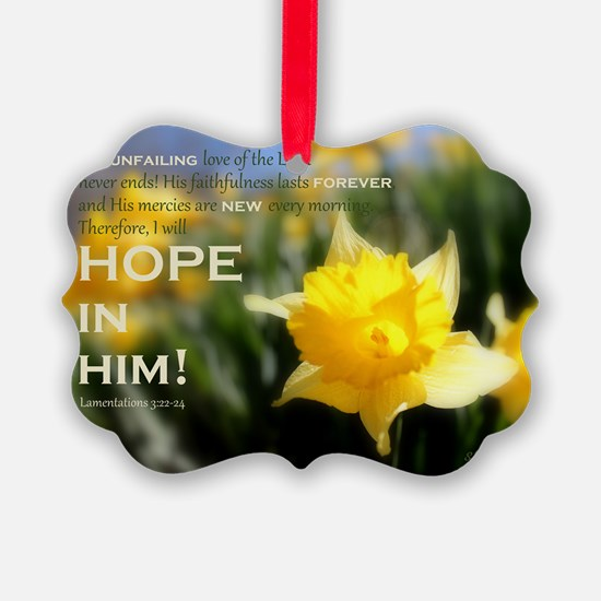 Hope In Him Ornament