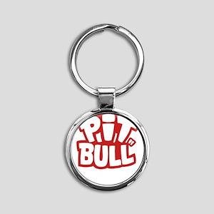 pitbull Round Keychain