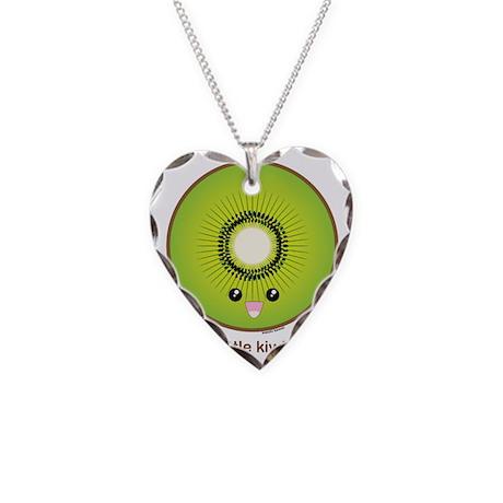 kiwi Necklace Heart Charm