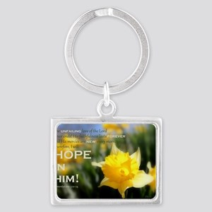 4x6 - Daffy Delight: HOPE IN Landscape Keychain