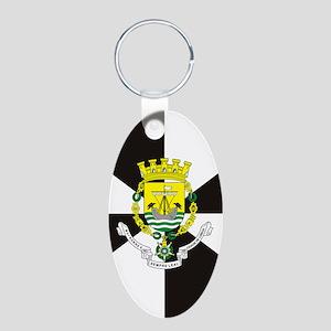 Lisbon (nexus s) Aluminum Oval Keychain