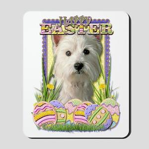 EasterEggCookiesWestHighlandTerrierCP Mousepad