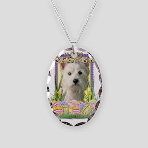 EasterEggCookiesWestHighlandTe Necklace Oval Charm